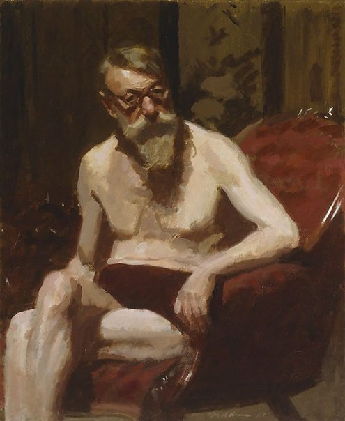 An image of (Self portrait at 75) by Max Meldrum
