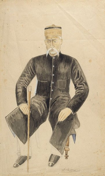 An image of Portrait of a seated gentleman by Company school