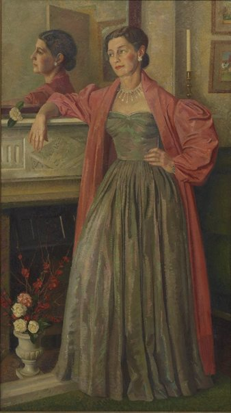 An image of Portrait of the artist's wife by Douglas Dundas