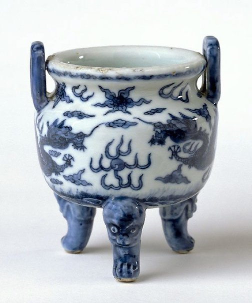 An image of Tripod censer by Jingdezhen ware