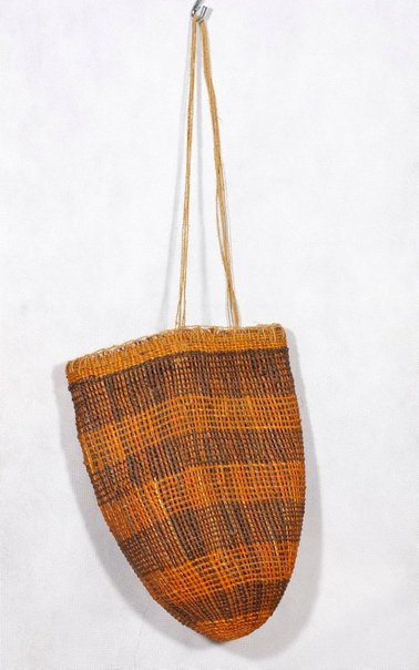 An image of Twined open weave dilly bag by Judy Nakarrana Baypungala