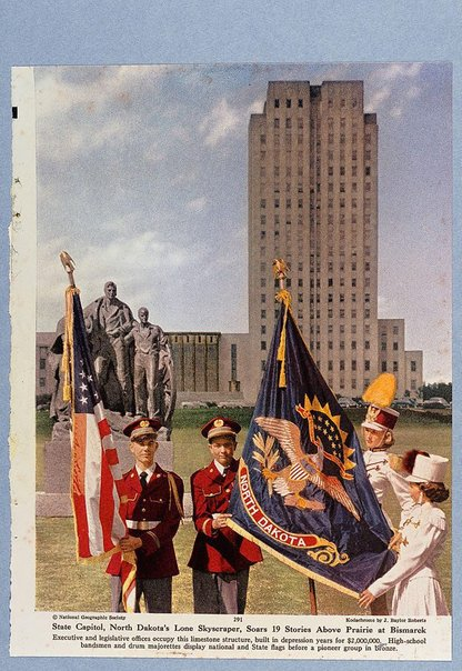 An image of North Dakota's lone sky scraper by Sir Eduardo Paolozzi