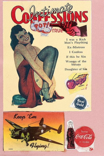 An image of I was a rich man's plaything by Sir Eduardo Paolozzi