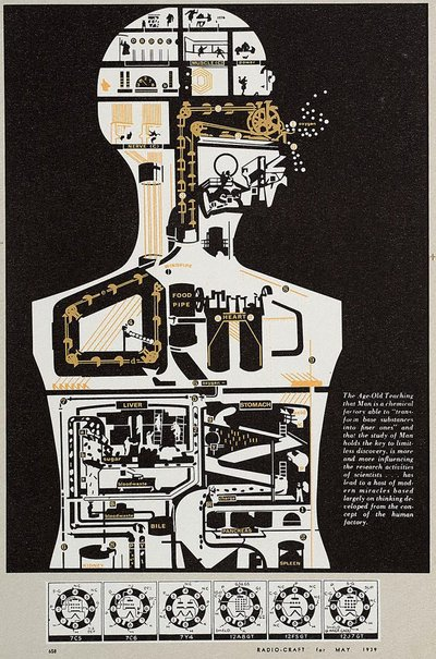 An image of Man holds the key by Sir Eduardo Paolozzi