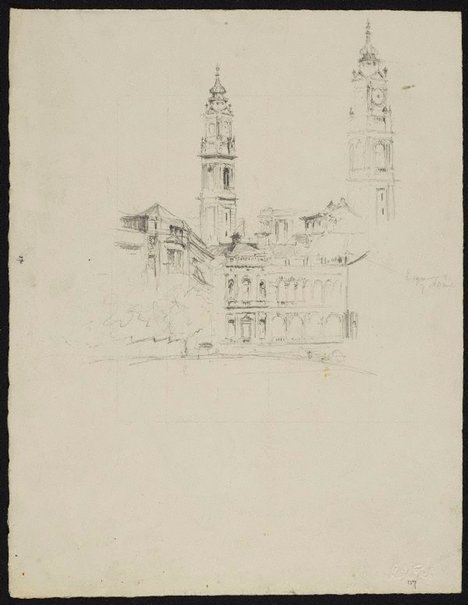 An image of The Lands Department building, Sydney by Lloyd Rees