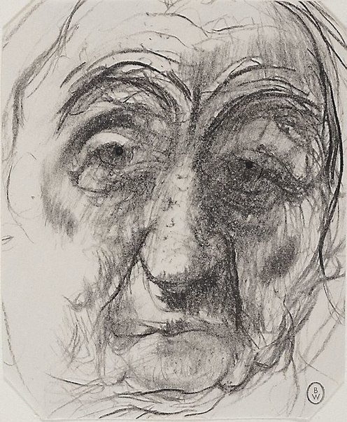 An image of Face of an old man by Brett Whiteley