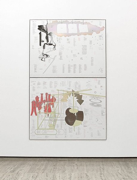 An image of Typo/Topography of Marcel Duchamp's Large Glass by Richard Hamilton