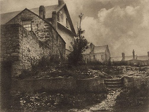 An image of Old cottages, The Rocks by Harold Cazneaux