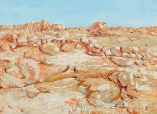 An image of Tibooburra landscape by Clifton Pugh