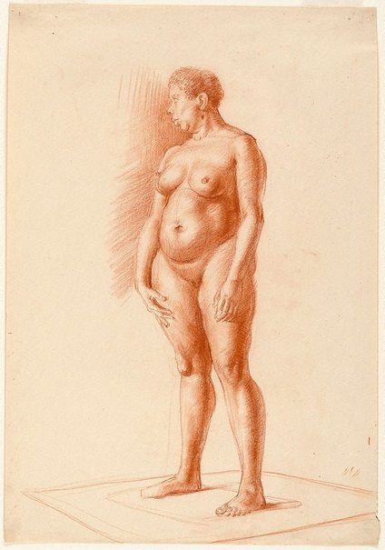 An image of Standing female nude, Central school, London by Nora Heysen