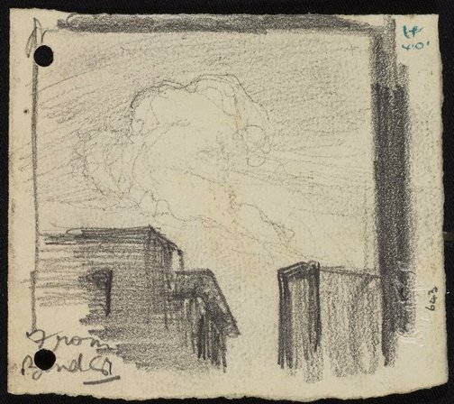 An image of Clouds from Bond Street by Lloyd Rees