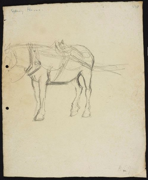 An image of Sydney horse by Lloyd Rees