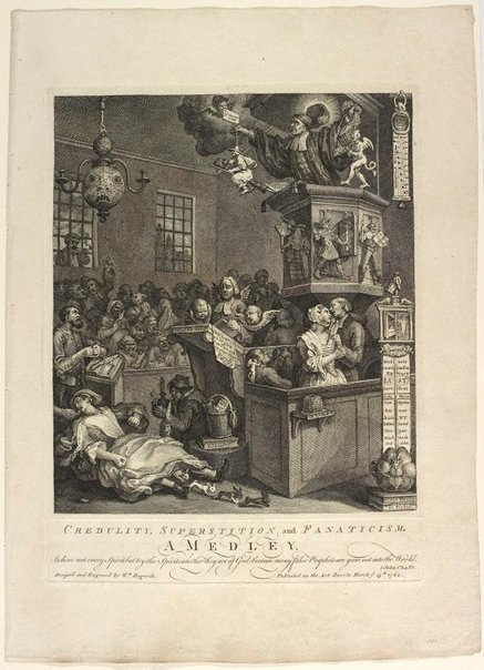 An image of Credulity, superstition and fanaticism by William Hogarth