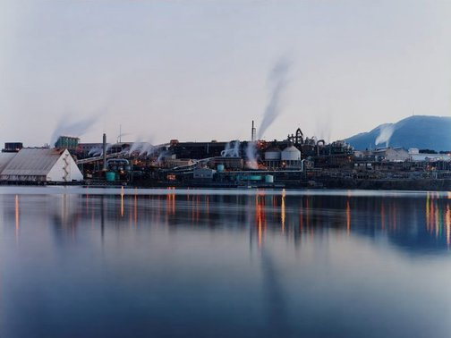 An image of The Zinc Works and Mount Wellington from Store Point, Tasmania by David Stephenson