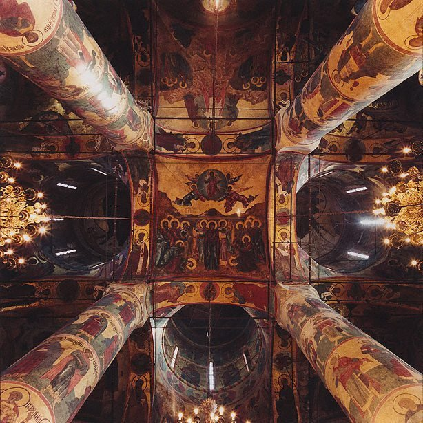 An image of Cathedral of the Assumption, Kremlin 1475-79, Moscow, Russia