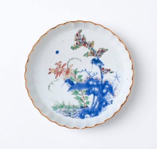 An image of Dish with foliate edge by