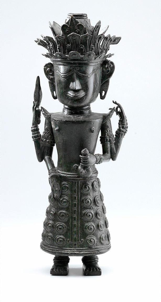 An image of Figure holding ewer (God 'Dewi Uma', God of Nature)