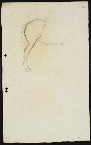 An image of recto: Study of horse's leg verso: Study of horse's legs by Lloyd Rees