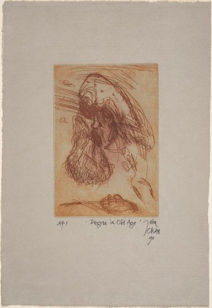 An image of Degas in old age by John Olsen