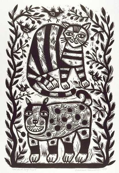 An image of Cat and dog by Barbara Hanrahan
