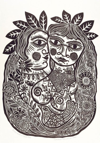 An image of Lovers with a bird by Barbara Hanrahan