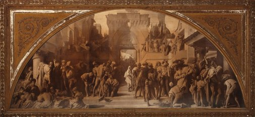 An image of Arts as applied to war by Unknown, after Lord Frederic Leighton