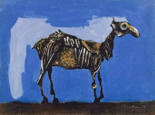 An image of Desiccated horse by Albert Tucker