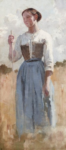 An image of A French peasant by E Phillips Fox