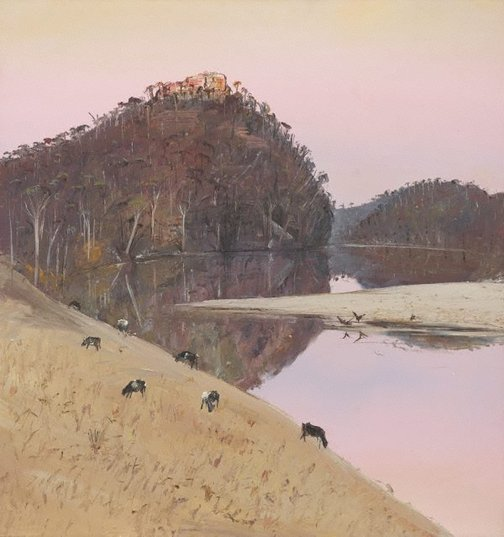 An image of Cattle on hillside, Shoalhaven by Arthur Boyd