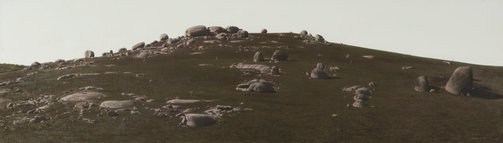 An image of Rocky hillside, Euroa by William Delafield Cook