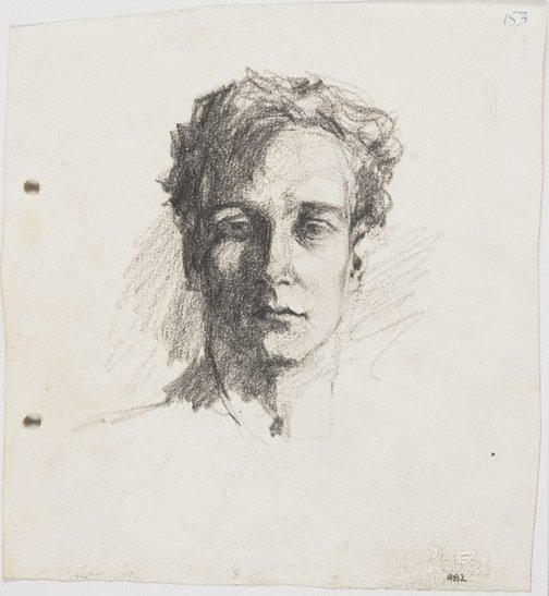 An image of recto: Self portrait verso: Self portrait by Lloyd Rees