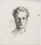 Alternate image of recto: Self portrait verso: Self portrait by Lloyd Rees
