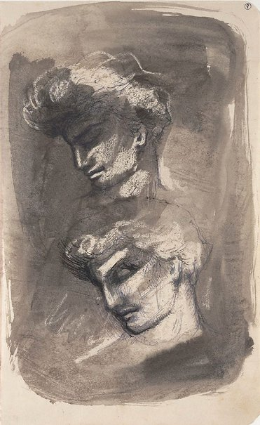 An image of (Two heads) by James Gleeson