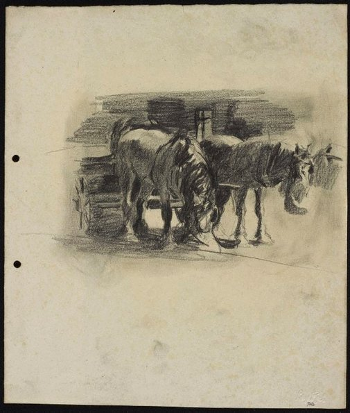 An image of Pair of Clydesdales by Lloyd Rees