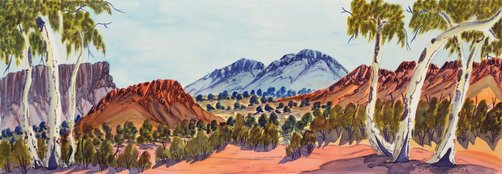 An image of South East of Mt Sonder by Ivy Pareroultja