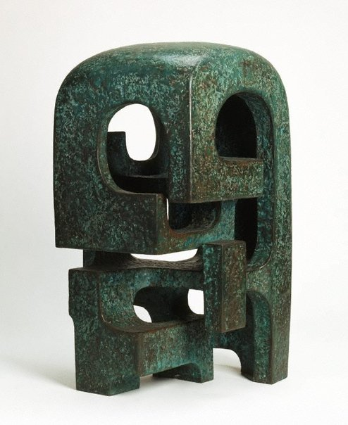 An image of Green garden sculpture by Margel Hinder