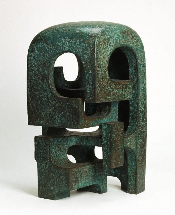 An image of Green garden sculpture