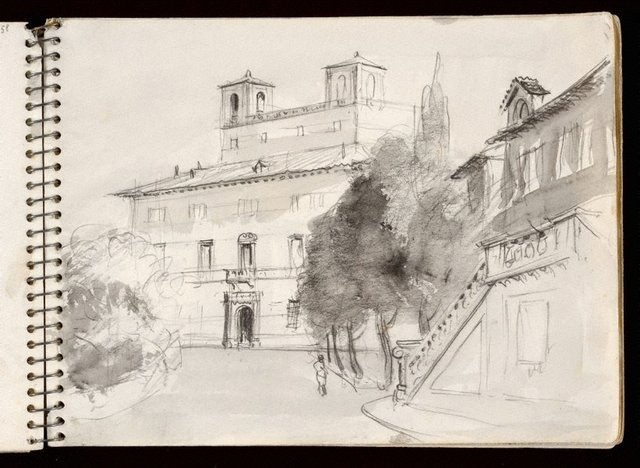 An image of Sketchbook no. 3: Italy, France, 1953