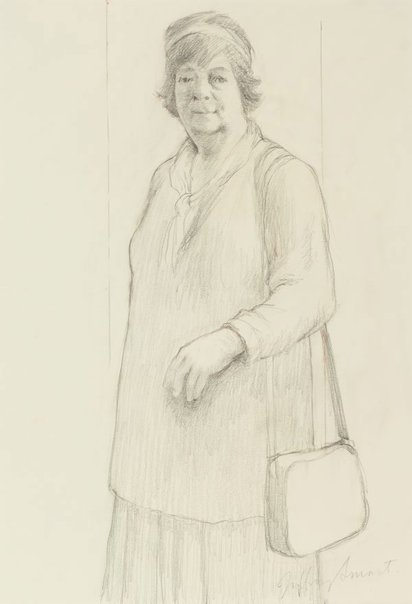 An image of Figure study for Margaret Olley by Jeffrey Smart