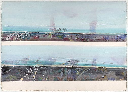 An image of Sea haze, Vinegar Hill by Fred Williams