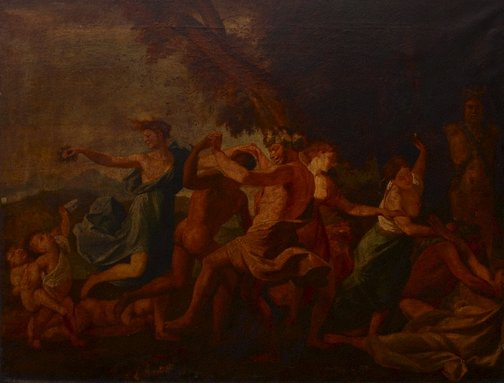 An image of Bacchanal before a herm by Unknown, after Nicholas Poussin