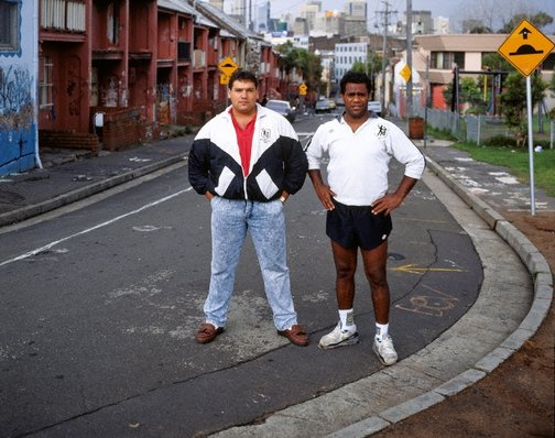 An image of Noel Collett and Shane Phillips, Eveleigh Street, Redfern by Brenda L Croft