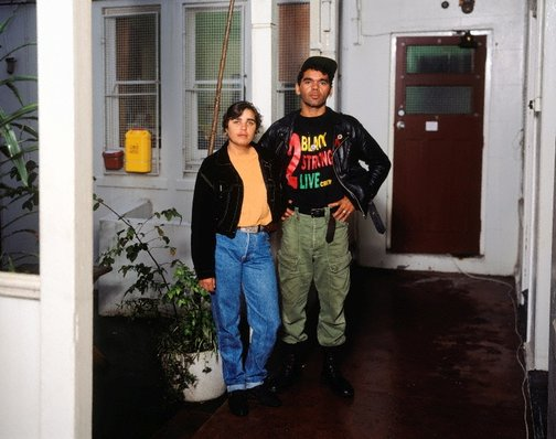 An image of Mathew Cook and Bonny Briggs, Aboriginal Community health services, Pitt Street, Redfern by Brenda L Croft
