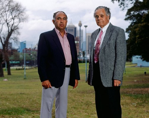An image of Mervyn Bishop and Joseph Croft, Prince Alfred park, Redfern by Brenda L Croft