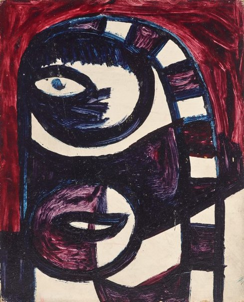 An image of Head of woman, Luna Park by Sidney Nolan
