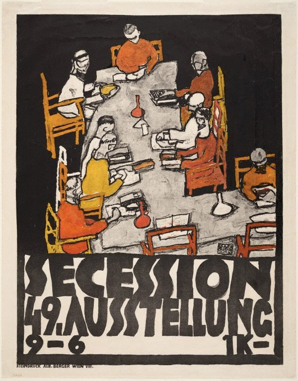 An image of Poster for the Vienna Secession 49th exhibition
