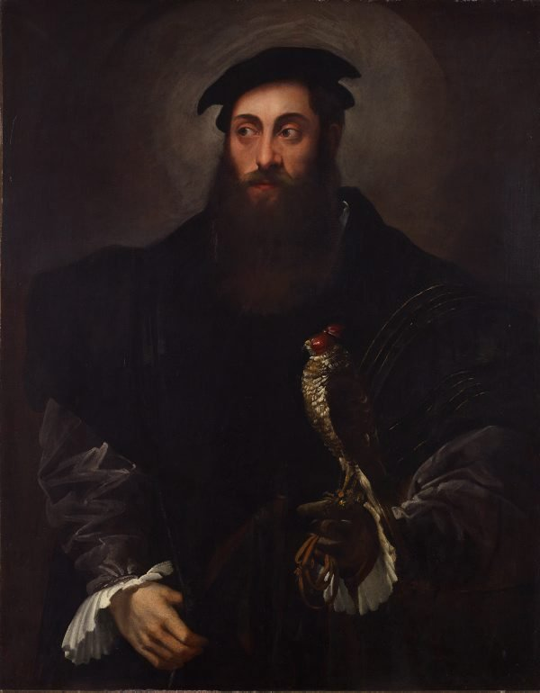 An image of Portrait of a gentleman with a falcon