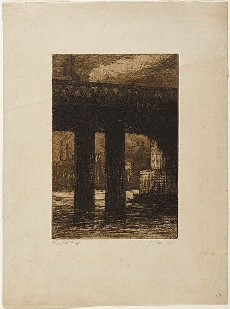 An image of Charing Cross Bridge by Jessie Traill