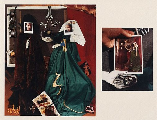 An image of The marriage of the Arnolfini - after van Eyck by Fiona Hall