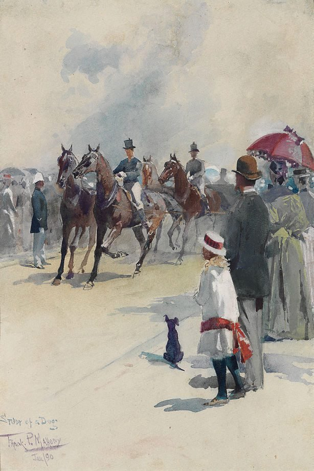 An image of Study of a dog - opening of Centennial Park